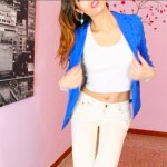 #Outfits in pillole – Total White e Blazer blu –