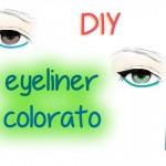 DIY: Eyeliner colorato