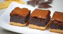 brownie cheesecake su base salata