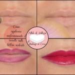 Come applicare uniformemente il rossetto sulle labbra scolorite