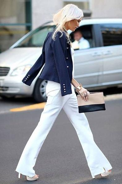 pantaloni bianchi