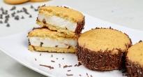 biscotto gelato con panna e yogurt