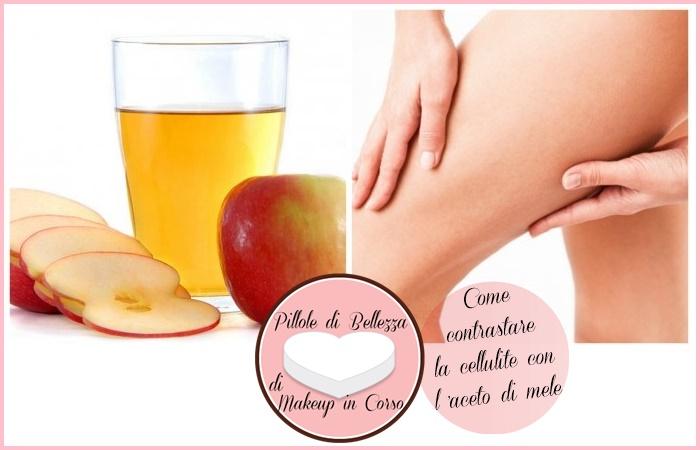 Come contrastare la cellulite con l'aceto di mele