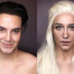 """Il ragazzo che si trasforma nelle protagoniste di """"Game of Thrones"""" con il trucco"""