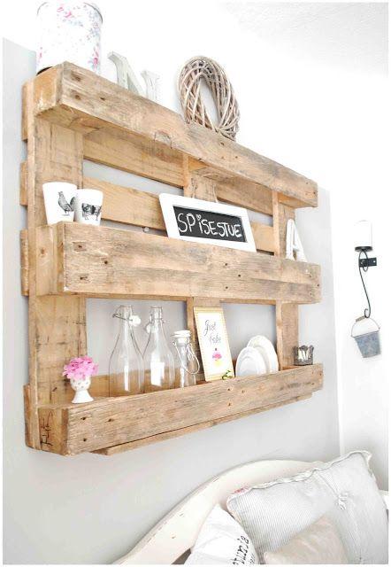 Dieci idee per decorare una parete bianca - Come utilizzare i pallet per arredare casa ...