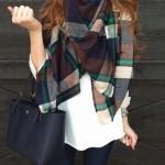 come indossare una sciarpa: idee outfit autunno