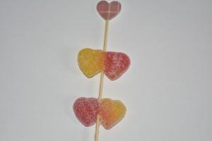 San Valentino: spiedini di caramelle