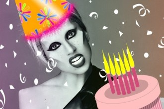 lady gaga video compleanno