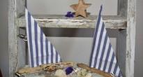 Barchette con legnetti di mare