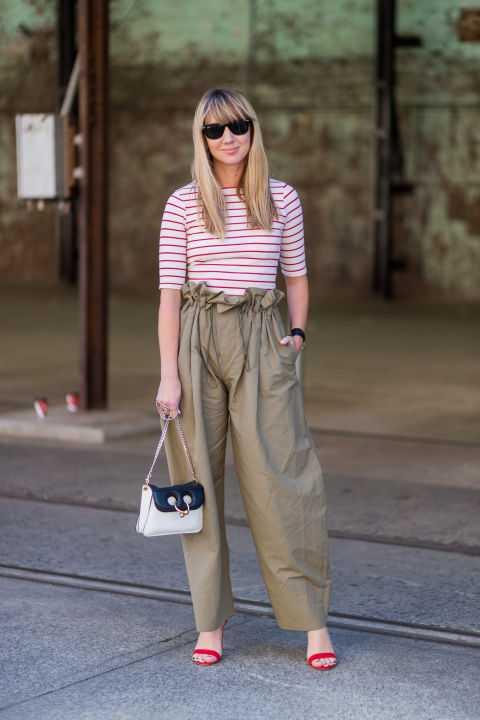 pantaloni paper bag