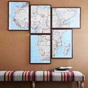 cartina geografica parete